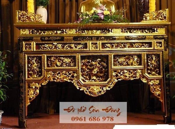 Mẫu Bàn thờ ô xa đẹp giá tốt nhất của làng nghề Sơn Đồng-1