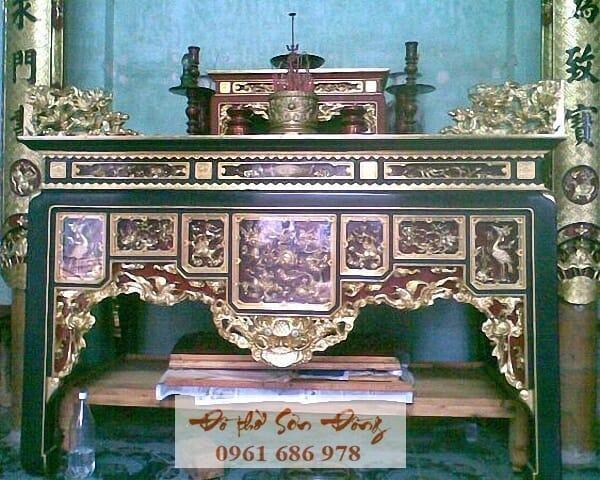 Mẫu Bàn thờ ô xa đẹp giá tốt nhất của làng nghề Sơn Đồng-2