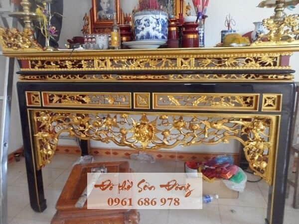 Mẫu Bàn thờ ô xa đẹp giá tốt nhất của làng nghề Sơn Đồng-3