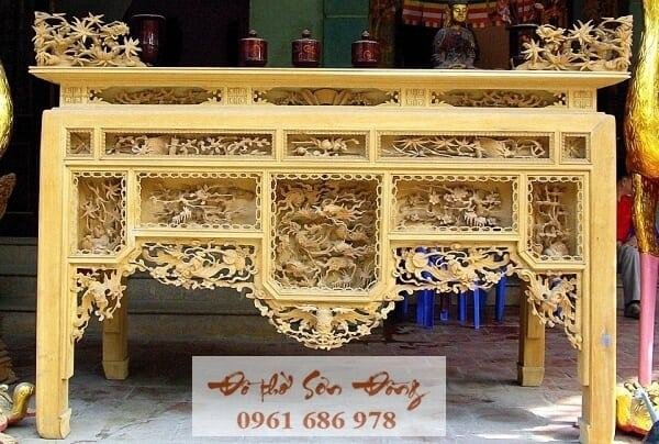 Mẫu Bàn thờ ô xa đẹp giá tốt nhất của làng nghề Sơn Đồng-4