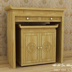 Bàn thờ hiện đại gỗ mít