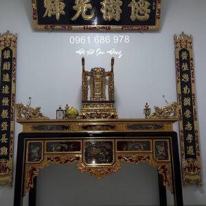 Bàn thờ ô xa 1 tầng cổ