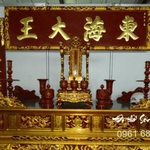 Bộ Hoành phi câu đối gỗ gụ thờ gia tiên-4