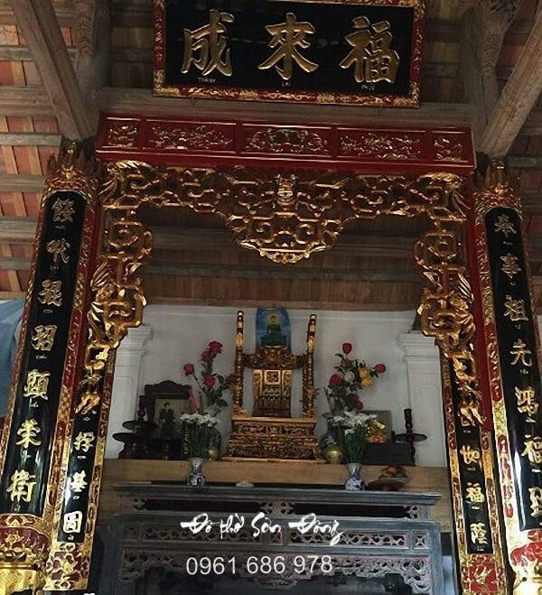 Mẫu cửa võng thờ đẹp tinh xảo - Đồ thờ Sơn Đồng