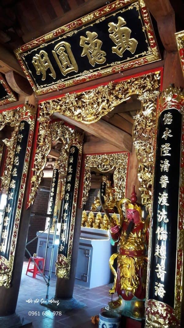 Cửa võng Tứ Linh đình chùa đẹp