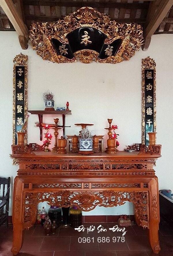 Mẫu Cuốn thư Câu đối gỗ mít, gỗ gụ, gỗ dổi đẹp - Đồ thờ Sơn Đồng