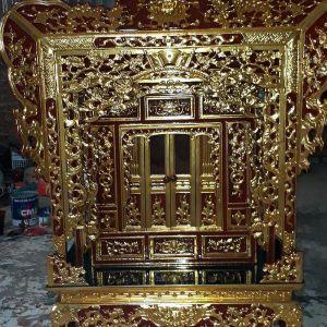 Khám thờ tư gia gỗ hương