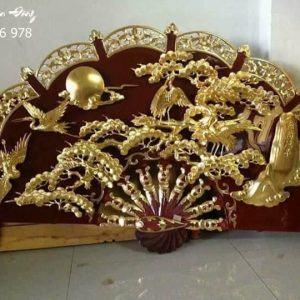 Quạt thờ Tùng Hạc-2