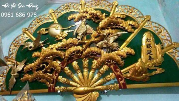 Quạt thờ Tùng Hạc