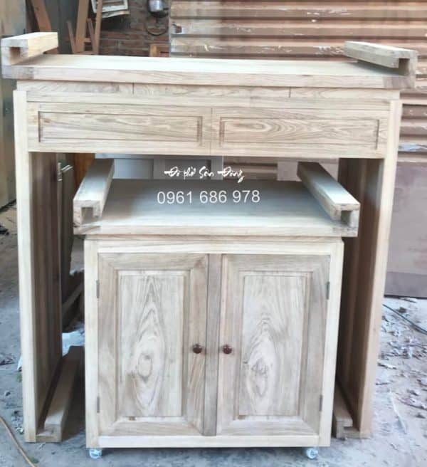 Bàn thờ hiện đại gỗ gụ