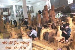 Làng nghề Sơn Đồng chuyên làm đồ thờ, tượng Phật
