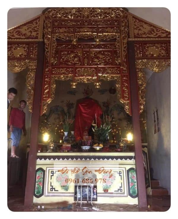 Bản đền bản cảnh thiết kế kiểu cổ