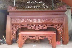 Bàn thờ gỗ gụ đẹp, giá tốt tại Hà Nội