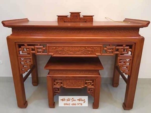 Bàn thờ gỗ gụ sơn Pu cao cấp giá 17,5tr