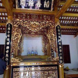 Bàn thờ ô xa gỗ mít sơn son thếp vàng