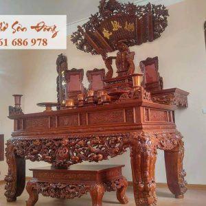Bộ ban thờ gỗ gụ đẹp nhất