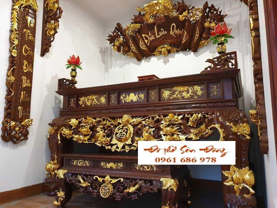 Hoàn thiện phòng thờ cho khách hàng tại Nam Định-1