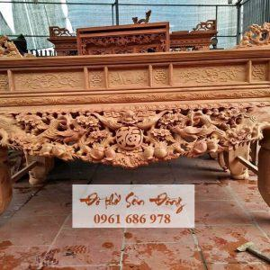Sập thờ gỗ gụ kích thước 2m17x1m07