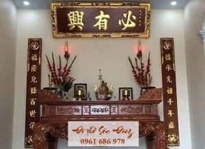 Ý nghĩa hoành phi câu đối trong văn hóa tâm linh người Việt