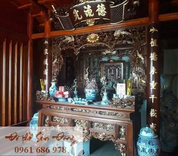 10 Mẫu cửa võng đẹp cổ kính cho gian thờ-6
