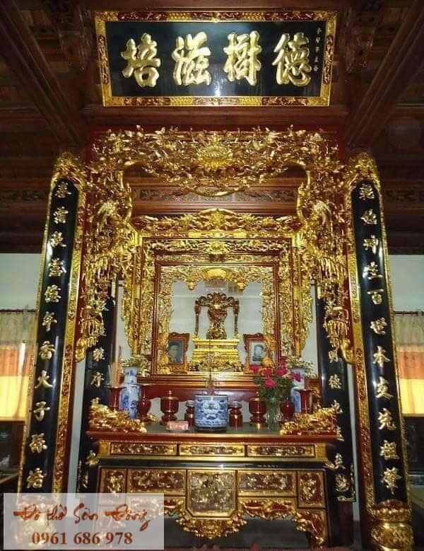 10 Mẫu cửa võng đẹp cổ kính cho gian thờ-9