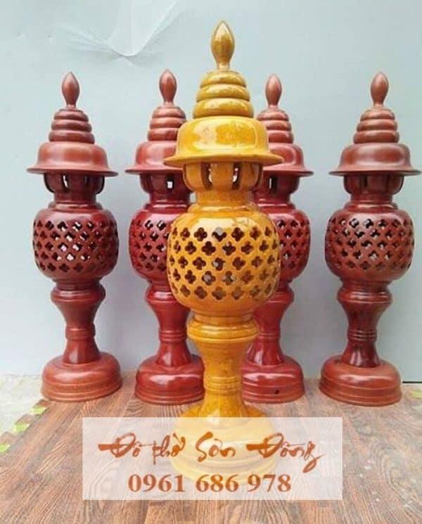 Đèn thờ cao 41cm sơn Pu cao cấp