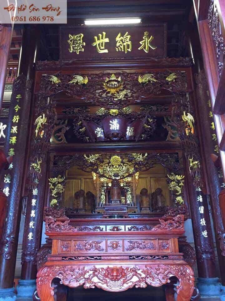 Gian thờ gỗ gụ đẹp nhất để thờ cúng - Đồ thờ Sơn Đồng