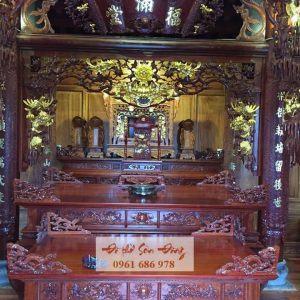 Thiết kế và thi công gian thờ gia tiên, từ đường kiểu cổ - Đồ thờ Sơn Đồng