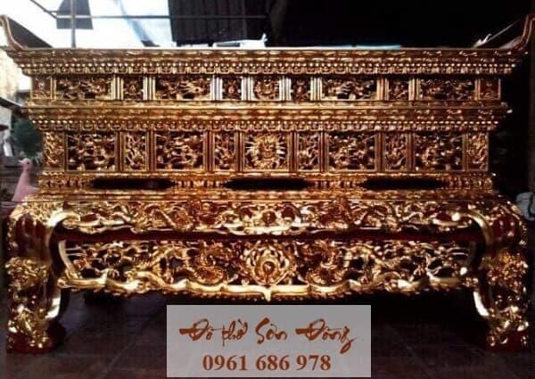 Mẫu sập thờ đẹp bằng gỗ của làng nghề Sơn Đồng-1