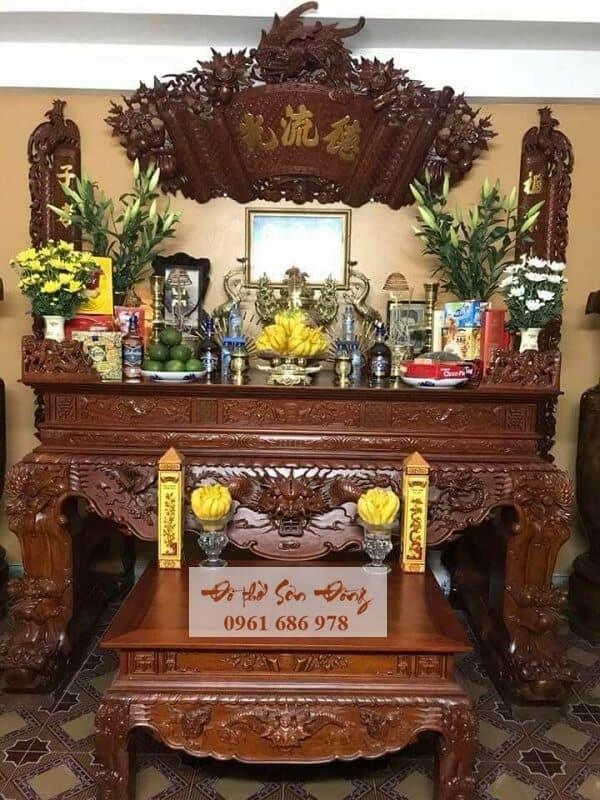 Mẫu sập thờ đẹp bằng gỗ của làng nghề Sơn Đồng-10