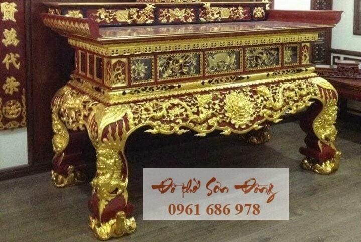 Mẫu sập thờ đẹp bằng gỗ của làng nghề Sơn Đồng-2