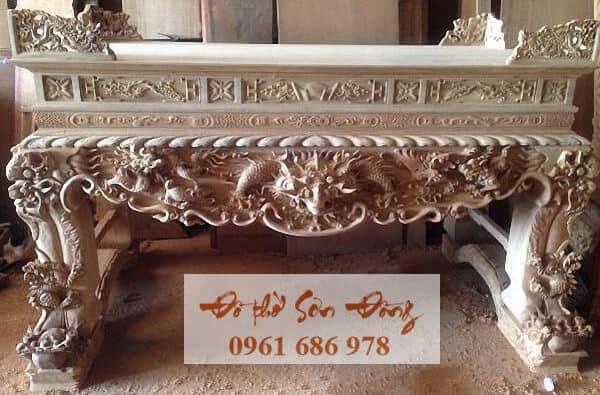 Mẫu sập thờ đẹp bằng gỗ của làng nghề Sơn Đồng-4