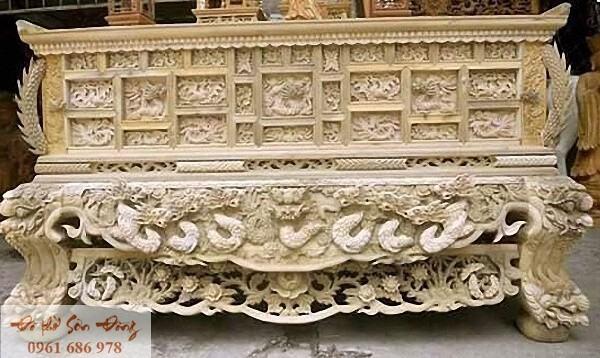 Mẫu sập thờ đẹp bằng gỗ của làng nghề Sơn Đồng-5