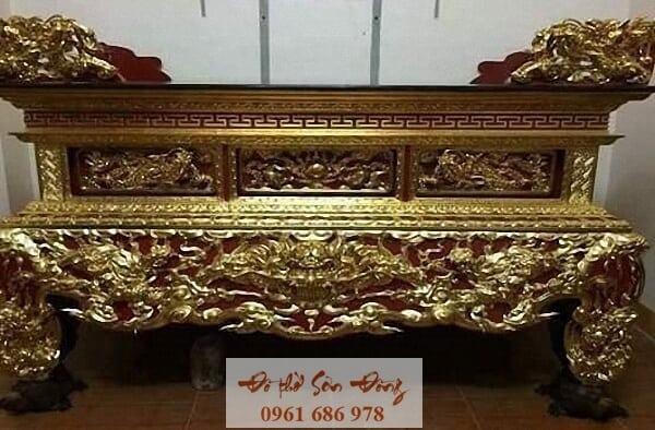 Mẫu sập thờ đẹp bằng gỗ của làng nghề Sơn Đồng-6
