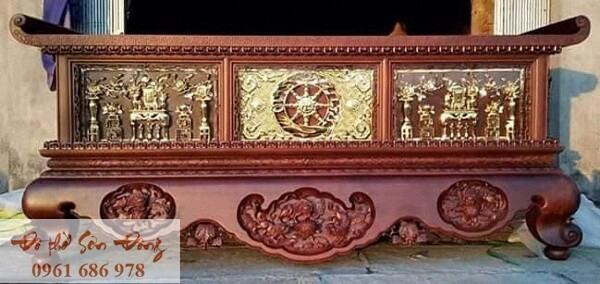 Mẫu sập thờ đẹp bằng gỗ của làng nghề Sơn Đồng-7