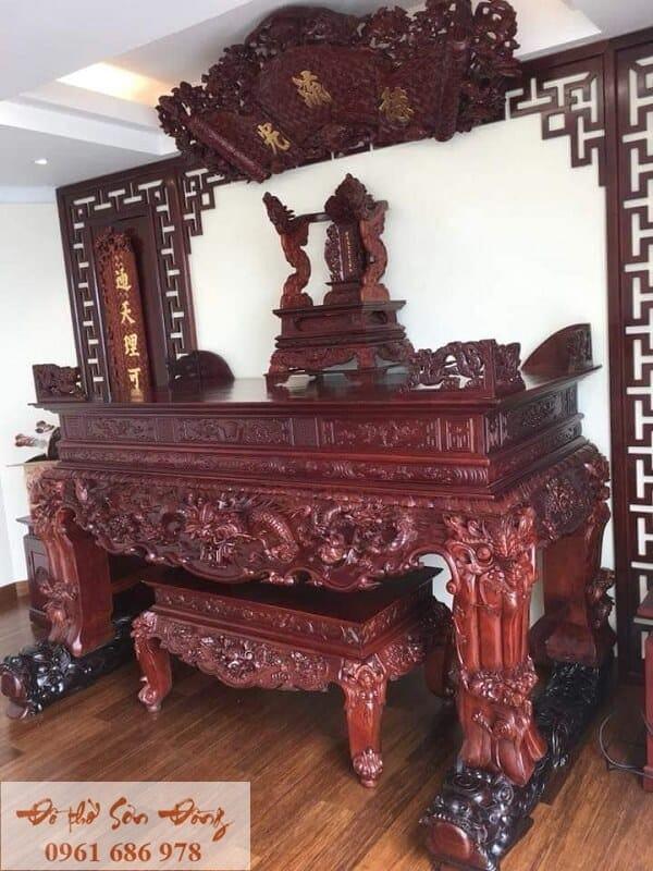 Mẫu sập thờ đẹp bằng gỗ của làng nghề Sơn Đồng-9