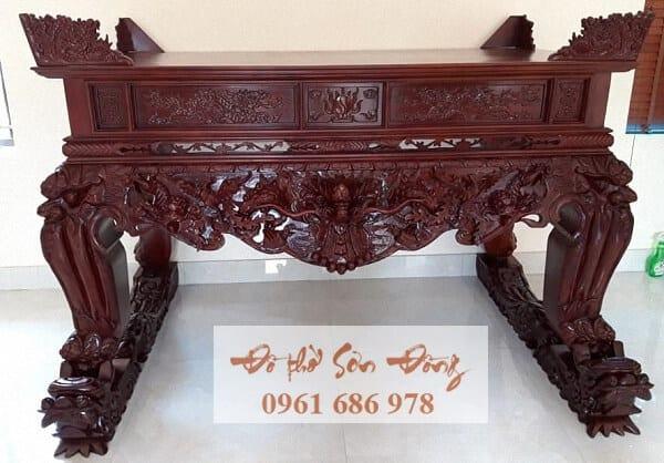 Mẫu sập thờ đẹp bằng gỗ của làng nghề Sơn Đồng