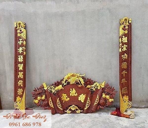 Những mẫu cuốn thư đẹp của làng nghề Sơn Đồng-1