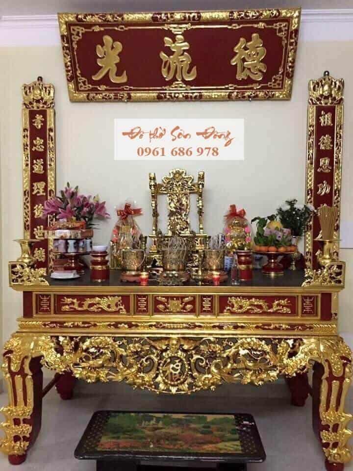 Sập thờ đẹp sơn son thếp vàng