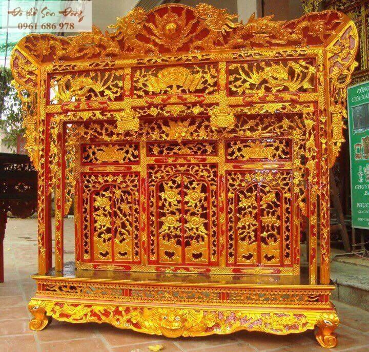Khám thờ sơn son thếp vàng 3 cửa