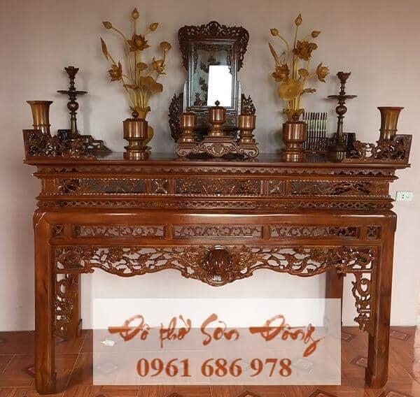 Mẫu bàn thờ Hổ phù sơn PU