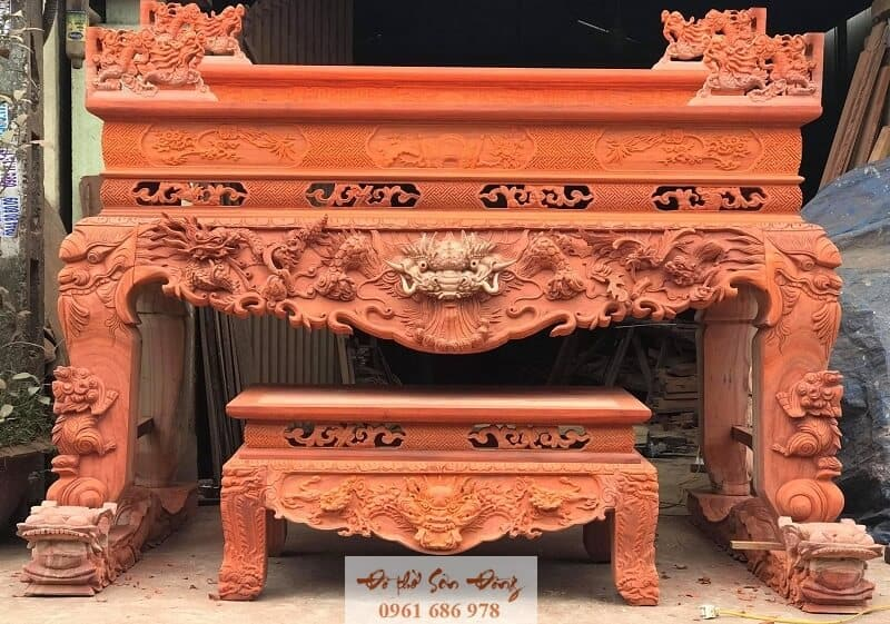 Mẫu sập thờ gỗ hương đỏ giá tốt