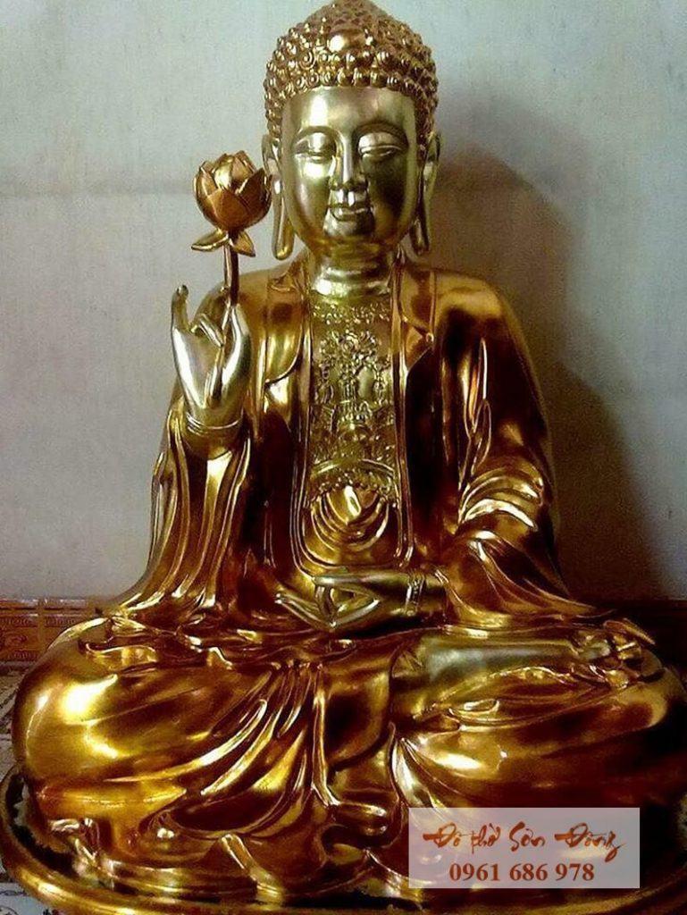 Tượng Phật Thế Tôn thếp vàng đẹp
