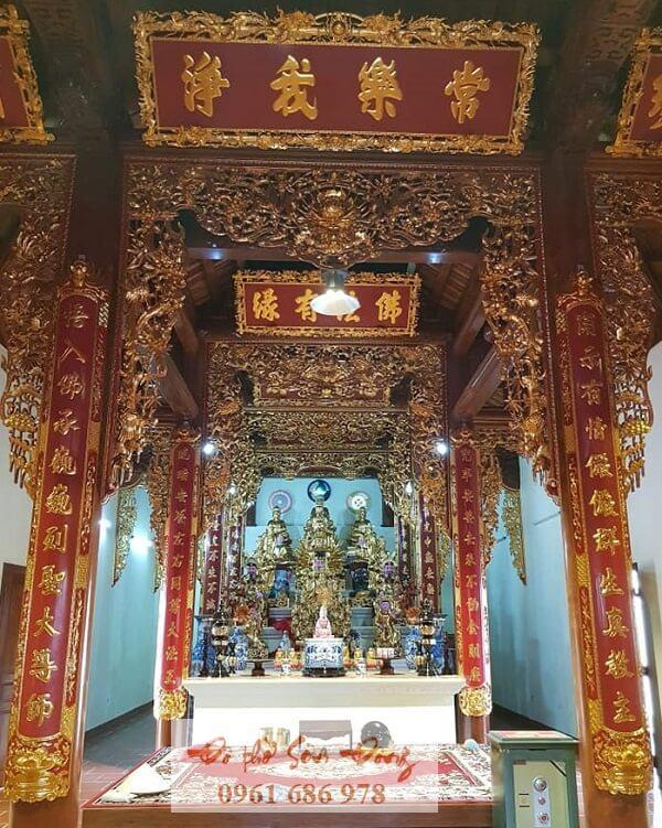Bộ câu đối hoành phi nhà thờ Phật tại gia