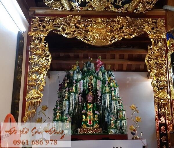Mẫu cửa võng thờ chúa Sơn Trang