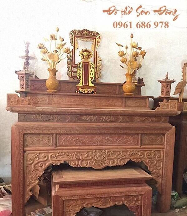 Phân loại các mẫu bàn thờ gia tiên đẹp thường dùng-2