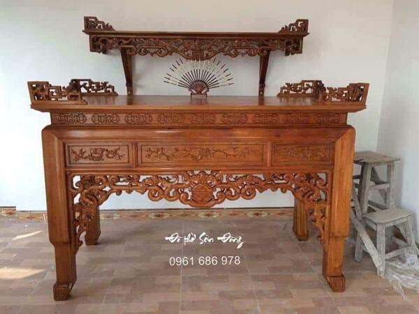 Phân loại các mẫu bàn thờ gia tiên đẹp thường dùng
