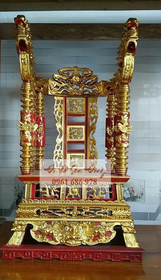 Ngai thờ gỗ mít sơn son thếp vàng đẹp