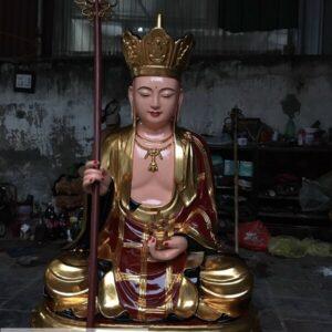 Tượng Địa Tạng Vương Bồ Tát ngồi đài sen