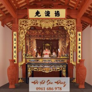 Đền thờ Sơn Thần ở Thanh Trương – Nghệ An mẫu 3D